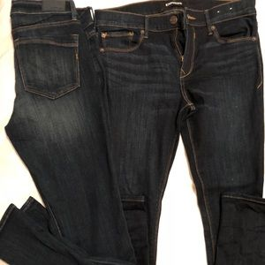 TWO PAIRS OF SAME STYLE EXPRESS JEANS